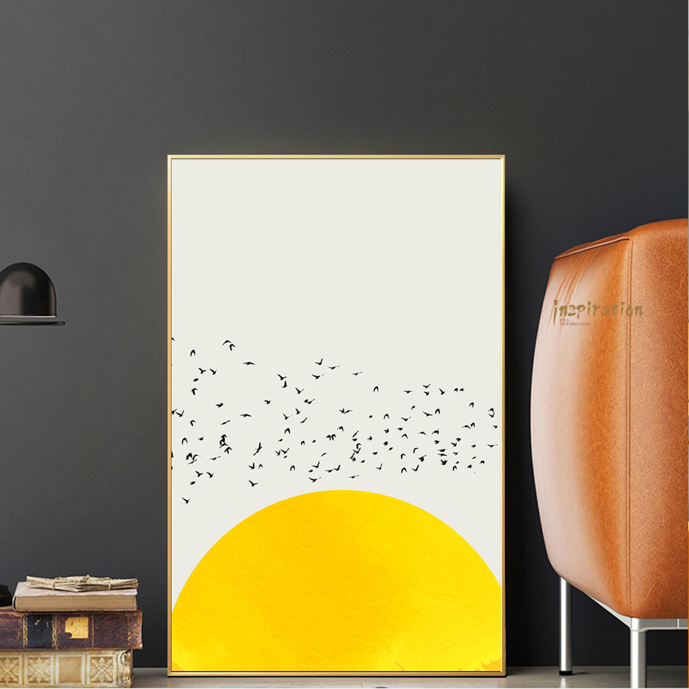 Nordic Simple Canvas Art Prints A Thousand Of Birds Abstract Canvas Art Wall Paintings Animals Posters And Prints Home Decor