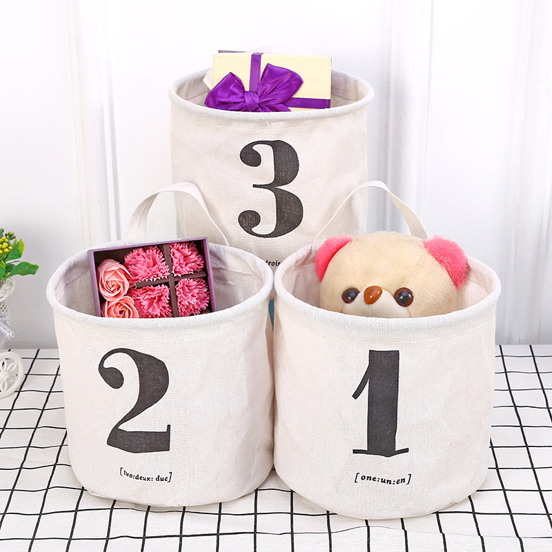 AIYOWEI@YW Foldable Desktop Storage Basket Linen Conatiner For Dirty Clothes Sundries Toy Makeup Organizer S025
