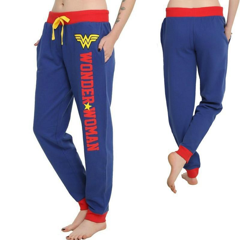 d191f918bc7 Hitmebox 2019 Autumn Winter Ladies Wonder Woman Cosplay Costumes Joggers  Colorblock Trouser Sport Gym Casual Long