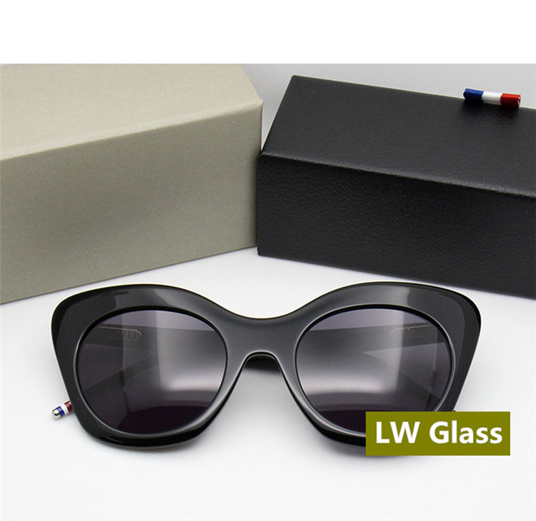 Lens Cateye grey Männer Thom sliver York Lens Sonne Vintage Retro Blue Lens 2018 Frauen Und brown Lens Tb508 Sonnenbrille New Glas Mode Weiß Marke 0Swn1USrx