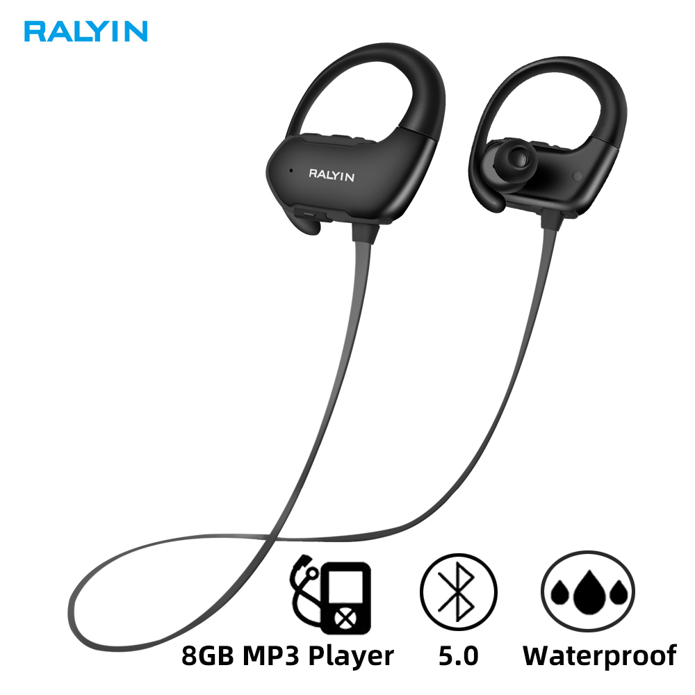 Ralyin M2 Wireless Headphones Waterproof Built-in 8GB Memory Bluetooth Earphone Sport Bluetooth Headset Wireless Earbud With Mic