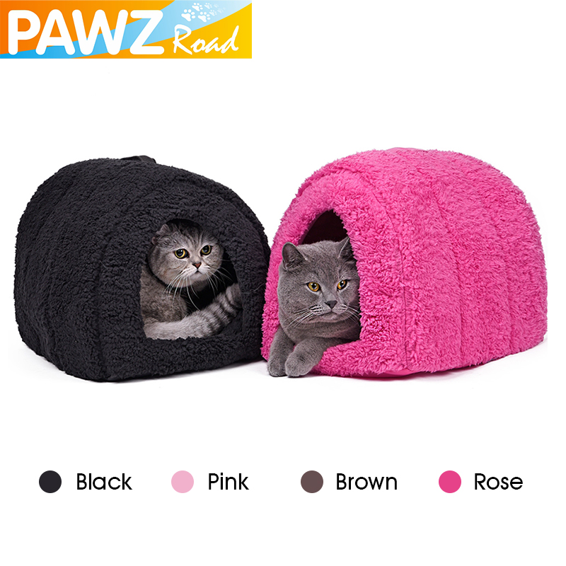 High Quality Dog Cat Warm House Winter Soft Home Pet Bed Cute Nest For Puppy Indoor Outdoor Dog House Bed Lovely 4 Colors Supply