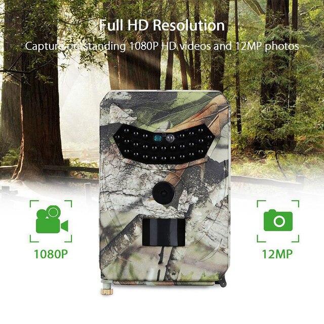 Mini câmera de caça para área externa, câmera digital PR 100 à prova d água ip56, com 26 peças, leds, infravermelhos, visão noturna, gravador de vídeo para áreas externas