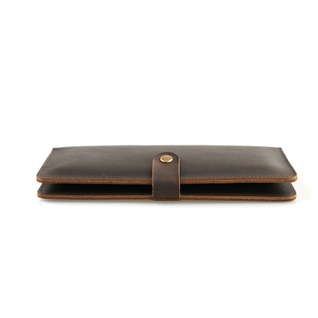 Long Purse Men Wallet Thin Genuine Leather Credit Card Wallets