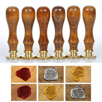Sealing Wax Classic Initial Wax Seal Stamp Alphabet Letter Retro Wood Scrapbooking Stamp Hot Sale