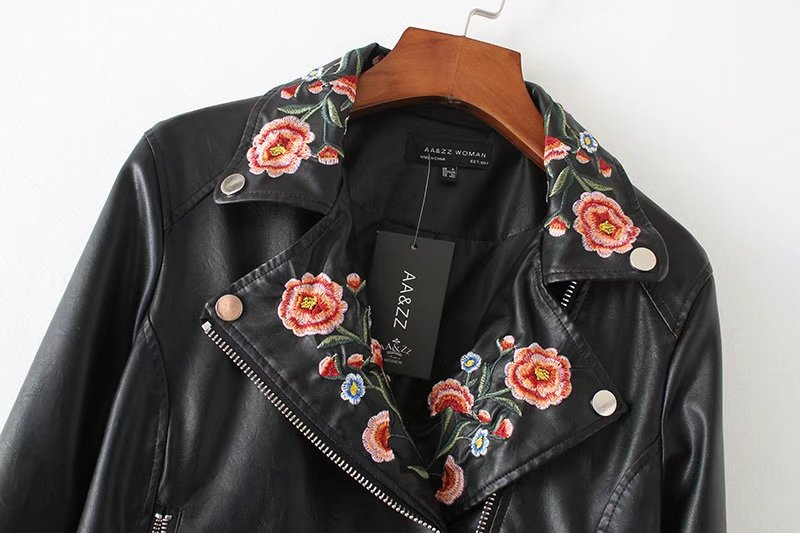 Faux Leather Jacket Women Motorcycle Jacket 2017 Spring Autumn