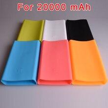 Silicone for Xiaomi Powerbank Case 20000 mAh Mi Power Bank Silicon Case Rubber Cover Portable External