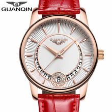 GUANQIN Women Watch Fashion Casual Quartz Women Watches Bracelet Watch Ladies Leather Luxury Jewelry Watches relogio feminino