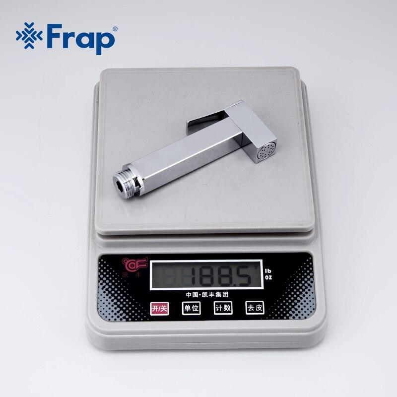 Image 5 - Frap 1 Set Solid Brass Single Cold Water Corner Valve Bidet faucets Function square Hand Shower Head Tap Crane 90 Degree SwitchBidets   -