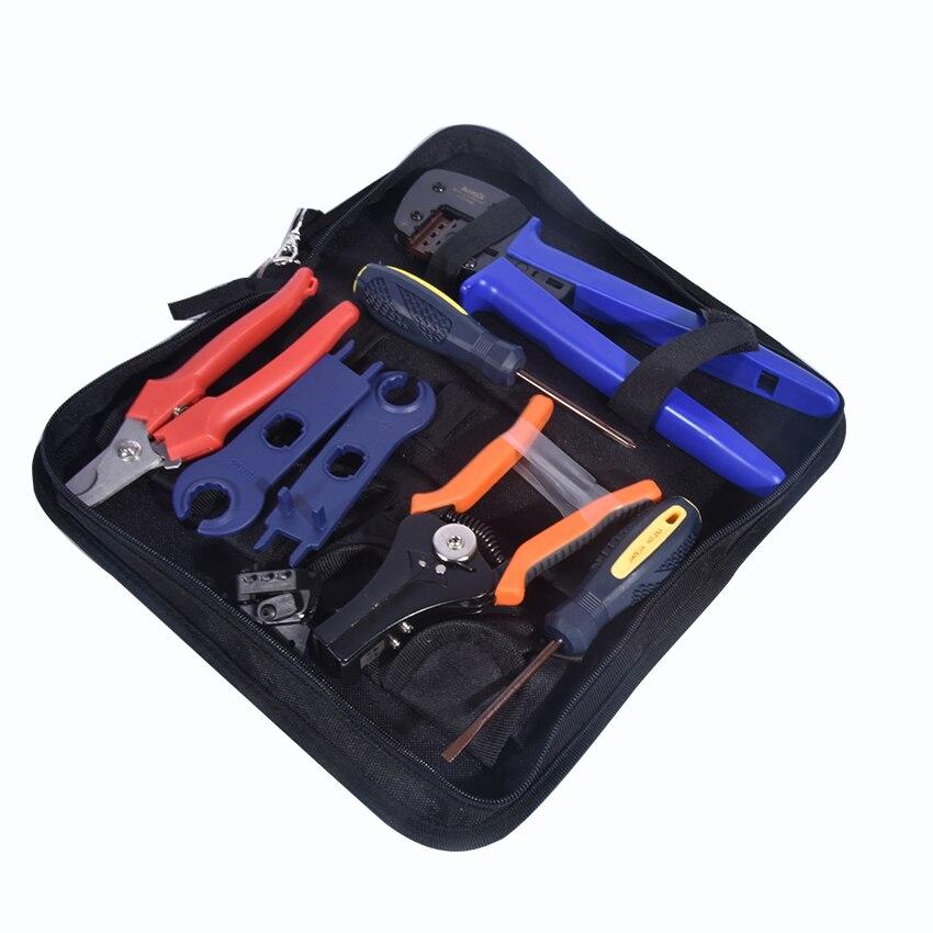 1 Juego de alicates de corte combinado A 2546B para Kits de herramientas solares PV con cable de prueba