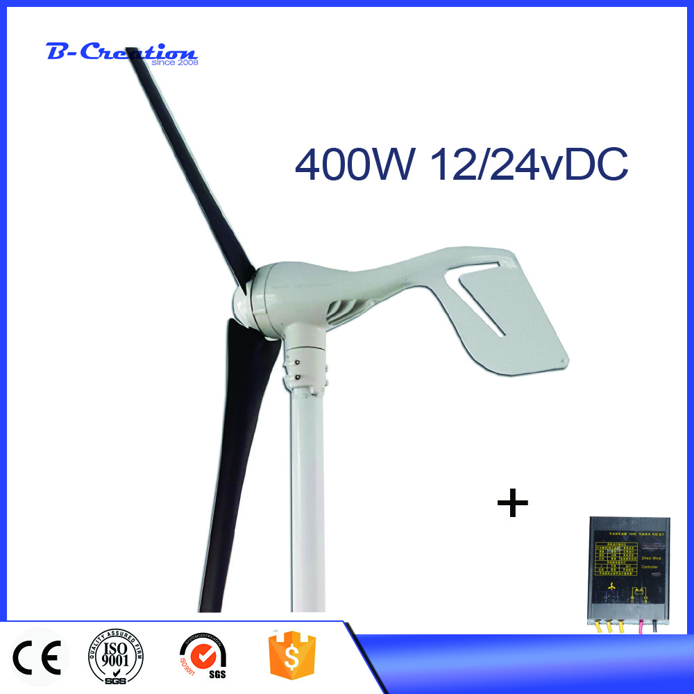Generador Eolico 3 Blades 400w Dc12/24v Wind For Turbine Generator With Waterproof Charge Controller And Magnetic Power Kits free shipping 600w wind grid tie inverter with lcd data for 12v 24v ac wind turbine 90 260vac no need controller and battery