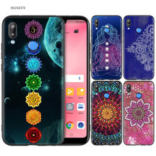 Silicone Case Cover for Huawei P20 P10 P9 P8 Lite Pro 2017 P Smart+ 2019 Nova 3i 3E Phone Cases mandala chakra yoga(China)