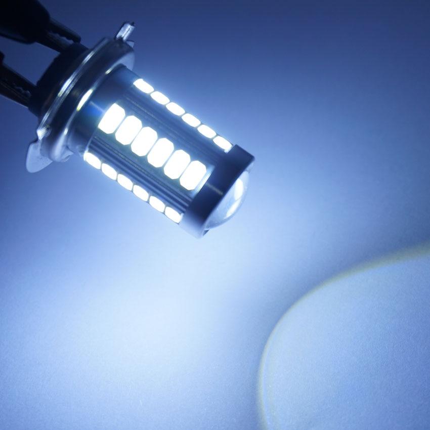AORUNYEBAO 1X Super Bright H7 LED Żarówka 5630 33 SMD Mgła Dzień - Światła samochodowe - Zdjęcie 3
