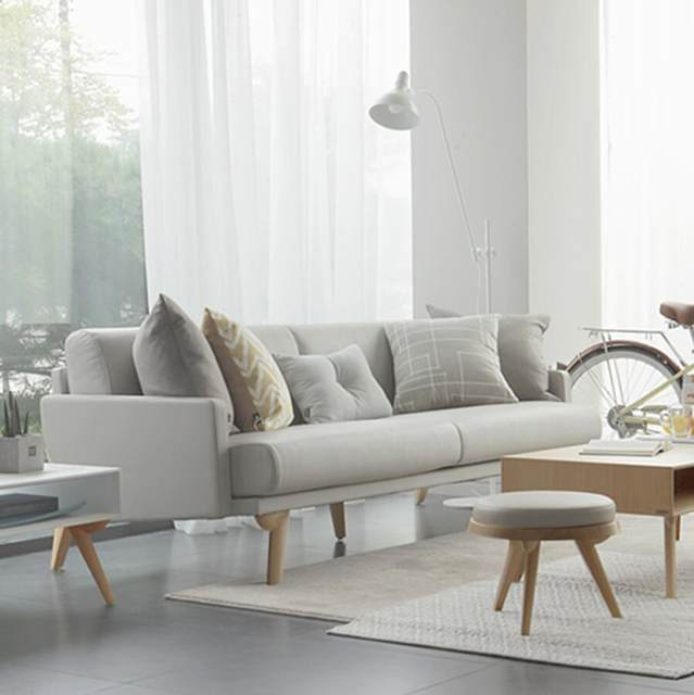 Solid Wood Leather Sofa Small Apartment Sofa Combination Three Seats First  Layer Of Leather Sofa Designer North Ou Arts