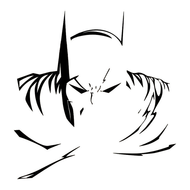 19320CM Batman Dark Knight Logo Decal Car Window Stickers Cool Vinyl Styling Accessories