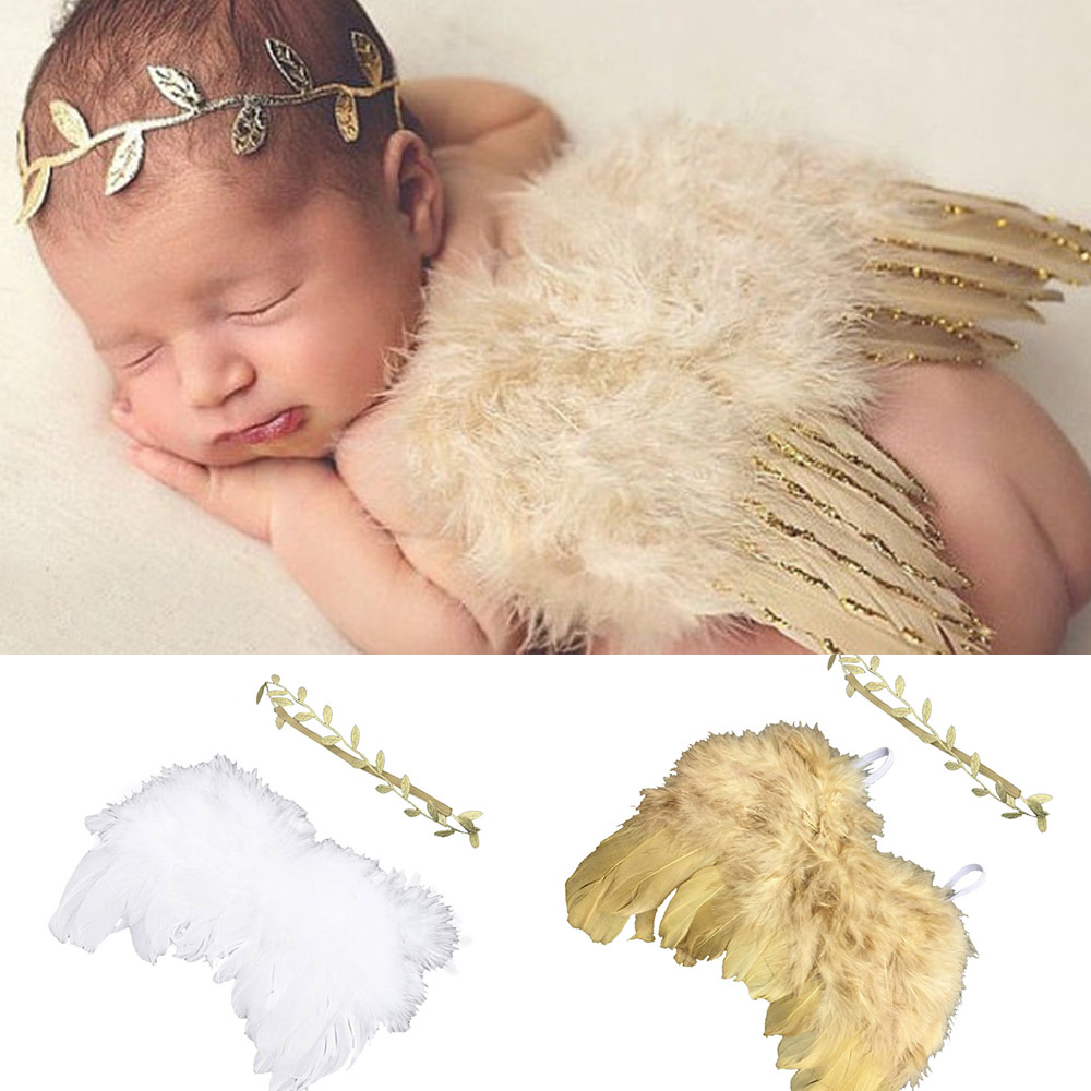 Infant Outfit Clothes-Skirt-Set Angel-Wing Photography-Props Newborn Baby-Girls-Boys