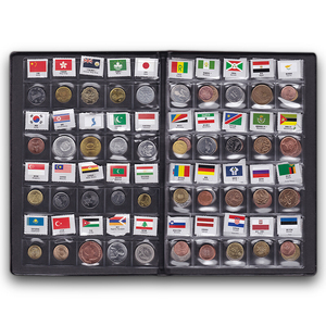 Image 3 - World Coins lot 60 Different country national flag Album Collection 100% original real coin Starter Kit