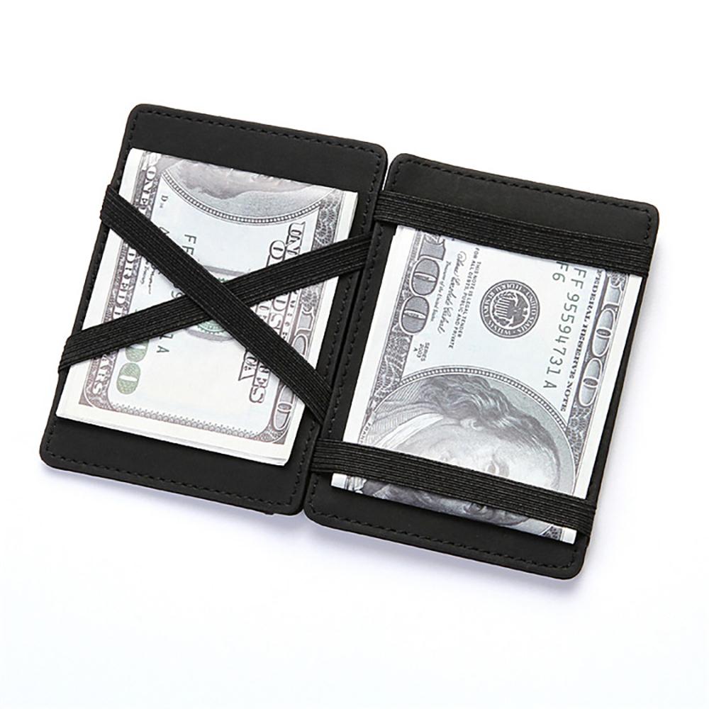 Ультра тонкий мини бумажник мужчины's маленький бумажник бизнес искусственная кожа магия кошельки высокое качество кошелек монета кредитная карточка держатель кошельки
