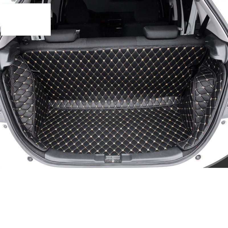 Lsrtw2017 fiber leather car trunk mat rear seat mat for <font><b>honda</b></font> <font><b>fit</b></font> 2014 <font><b>2015</b></font> <font><b>2016</b></font> 2017 2018 2019 image
