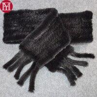 2019 hot sale women real mink fur scarf 100% genuine real mink fur scarfs quality handmade knitted real mink fur shawl scarves
