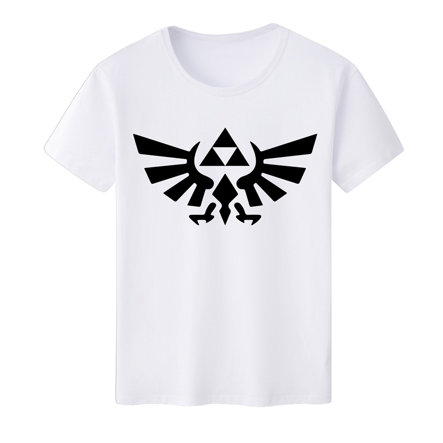 The Legend of Zelda T-shirt for Men's White T-shirt Unisex Tee Casual Summer Tee Top Milk Silk DIY T Shirt Wholesale