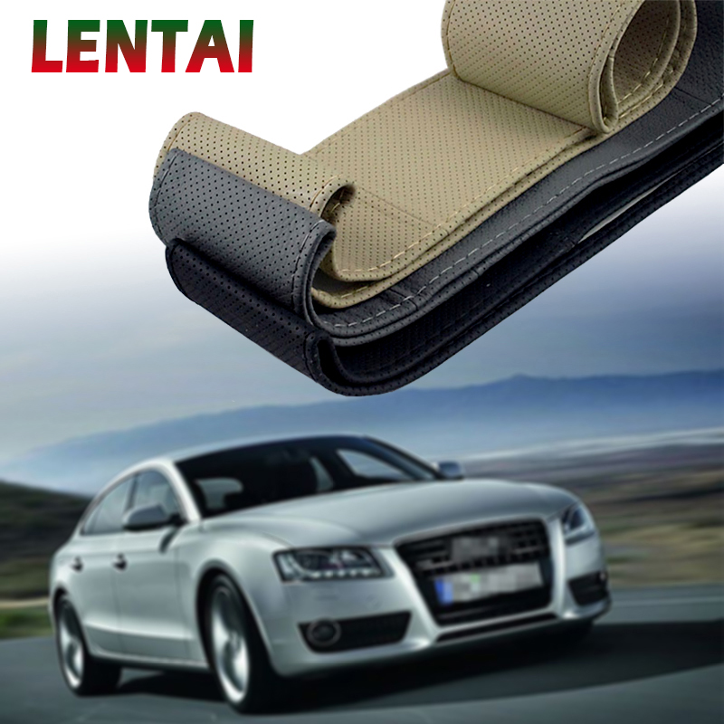 LENTAI 1Set Car <font><b>steering</b></font> <font><b>wheel</b></font> cover Leather Hand stitching For VW Golf 4 7 5 MK4 Mazda 6 cx-5 <font><b>Peugeot</b></font> 206 <font><b>207</b></font> 208 508 Touareg image