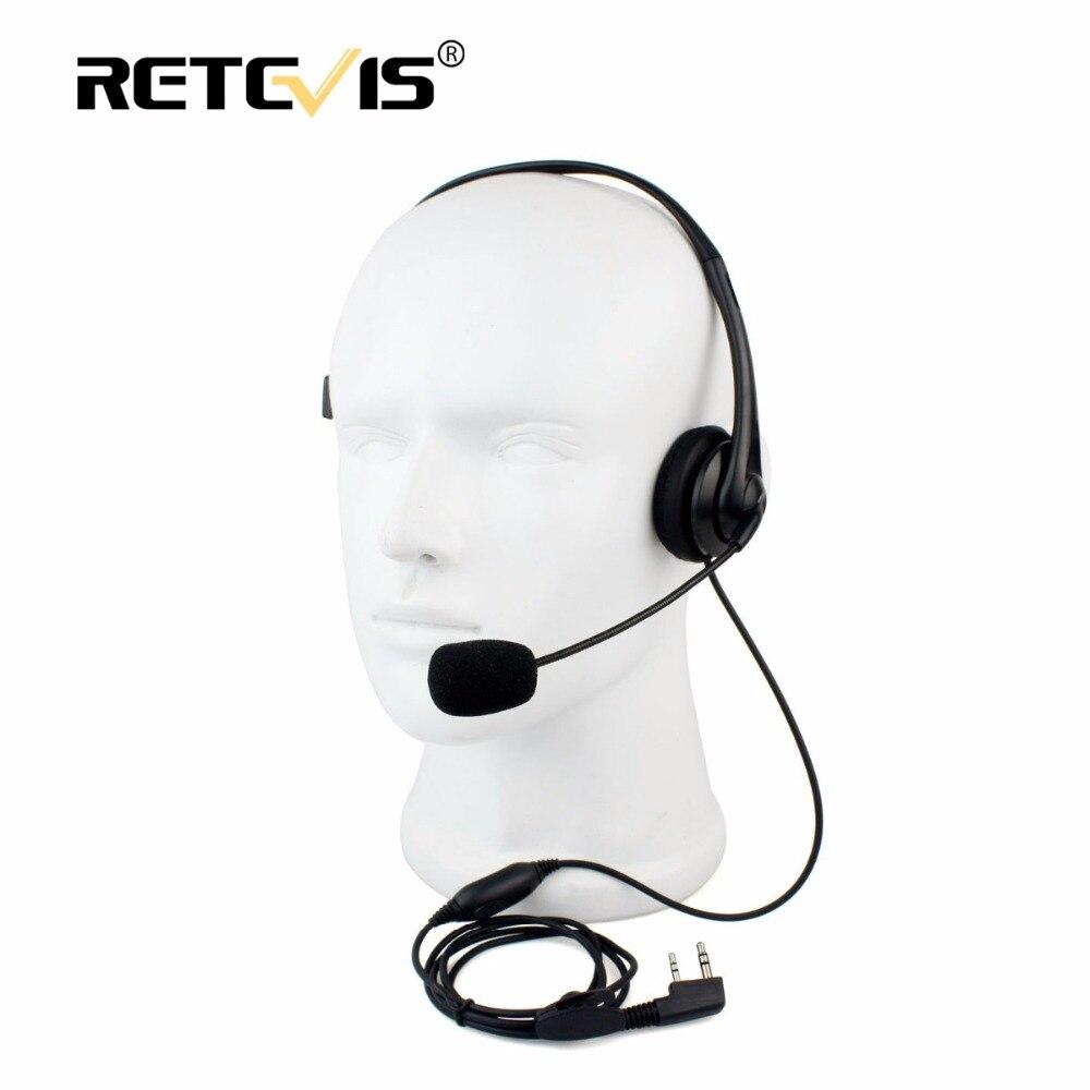 2Pin Walkie Talkie Headset Schwamm Polsterset Hörer PPT Mic Zubehör Für Kenwood Baofeng UV-5R BF-888S Retevis H777 RT5R C9009A