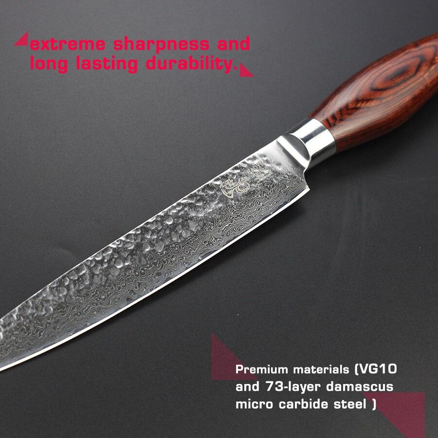 """haoye 8 """"damas couperet couteau japonais vg10 acier qualité couper"""