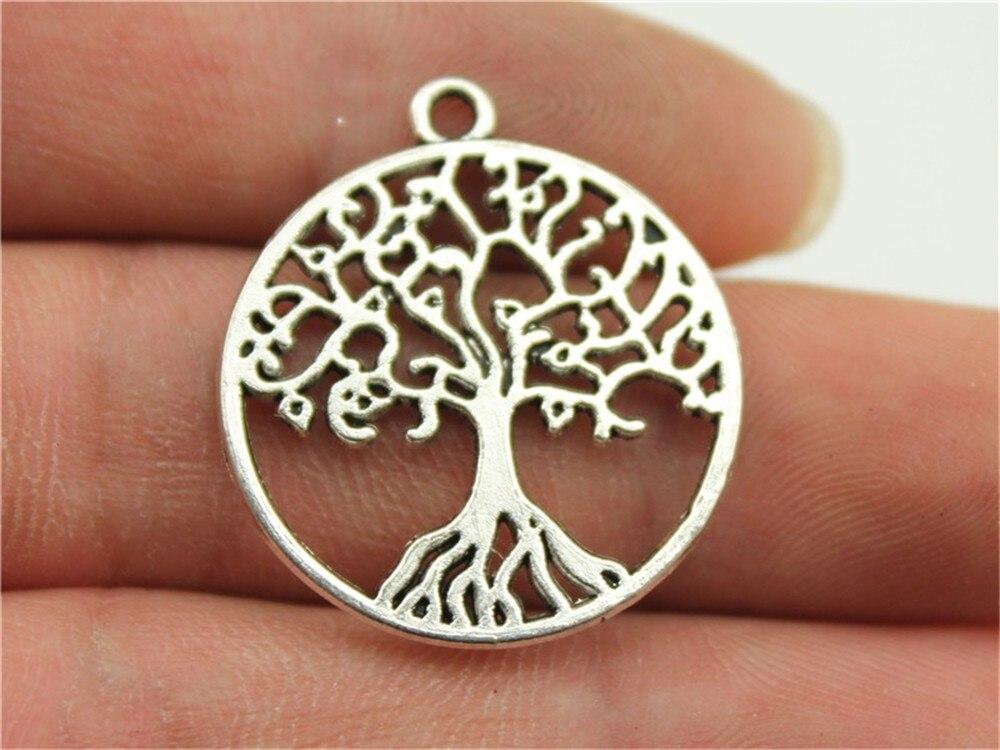 Realistisch Wysiwyg 4 Stücke 25x25mm Charme Baum Des Lebens 3 Farben Runde Baum Charms Baum Des Lebens Anhänger Charms Für Schmuck Machen