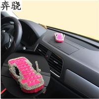 Exquisite Rhinestone Car Styling Decoration Colored Diamond Solid Perfume Stand Diamond Car Air Freshener Perfumes 100