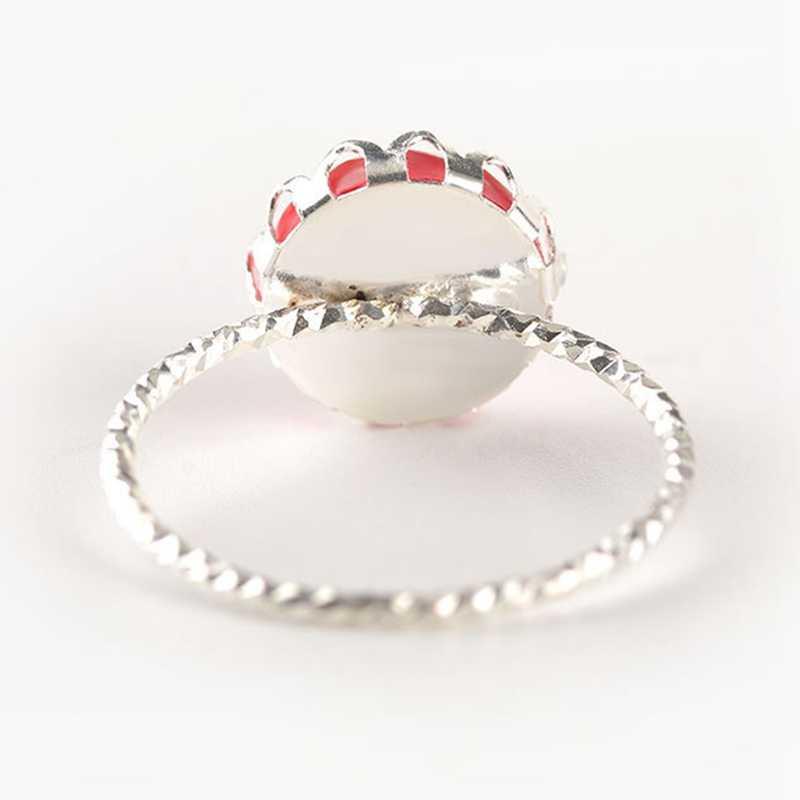Мода 2018 Винтаж большое кольцо Античный Зеленый красного цвета мозаика Цвет Фул смолы кольца для Для женщин вечерние турецких украшений