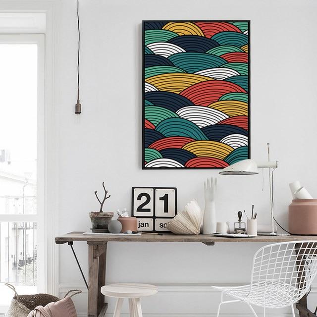 Online Shop Bianche Muur Golf Driehoek Kleur Abstract A4 Canvas ...