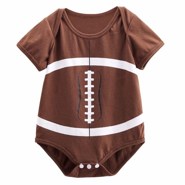 Nouveau-né Bébé Garçon de Football Costume Body Infantile Partie Cosplay Combishort 0-18 Mois