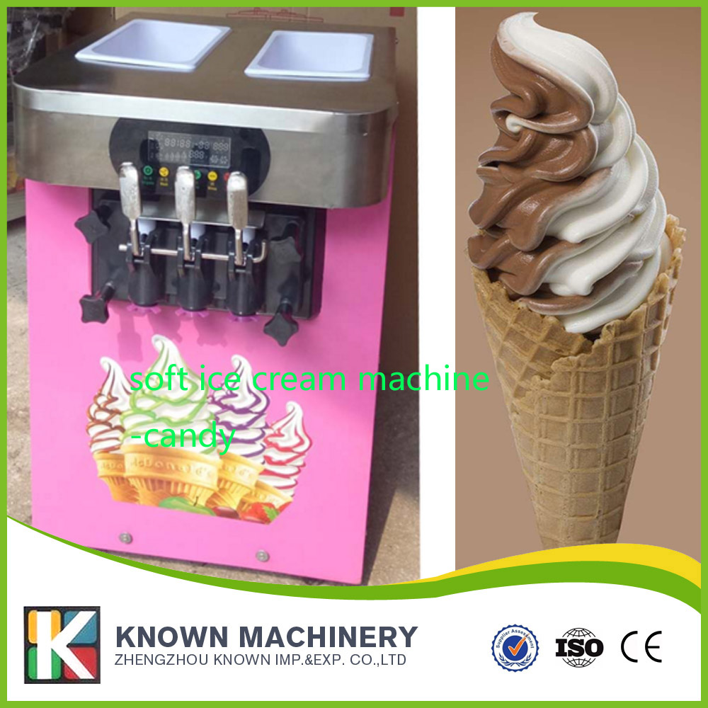 Commercial Ice Cream Maker Automatic Desktop Ice Cream Cone Machine Stainless Steel Soft Ice Cream Machine desktop soft ice cream machine stainless steel soft serve maker 220v with digital control ice cream cone 22 25liters h capacity