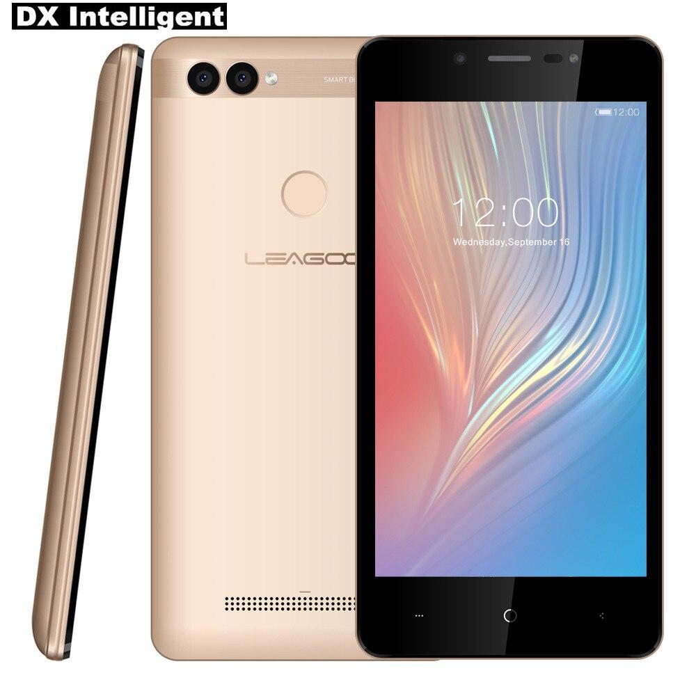 LEAGOO KIICAA Puissance 2 5.0 Android 8.1 8MP + 5MP Double Caméra Visage SmartPhone MTK6580A Quad Core 2 gb + 16 gb D'empreintes Digitales Mobile Téléphone