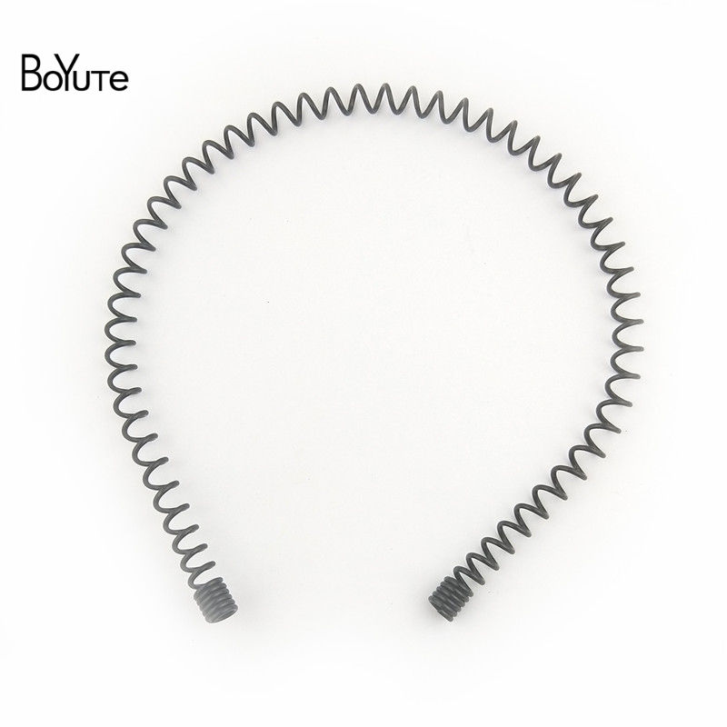 BoYuTe Retail 1 Piece Metal Black Hair Band Hairband New Style Black Color Metal Headband (2)