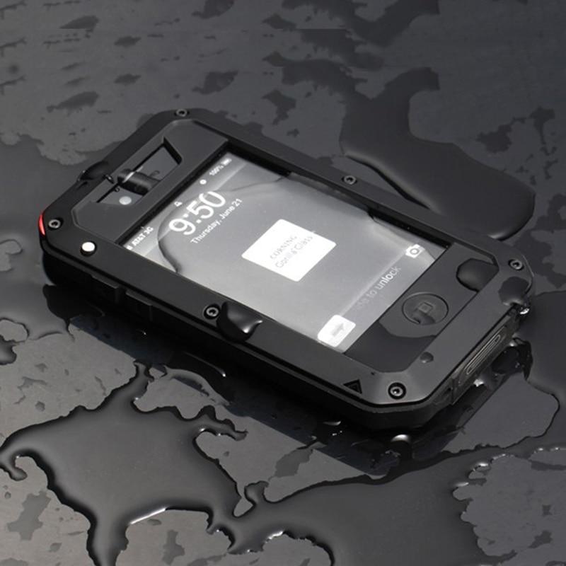 Цена за Премиум Защита Для Apple iPhone 4 4S Экстремальных Чехол Противоударный Водонепроницаемый Военная Heavy Жесткий Телефон Задняя Крышка