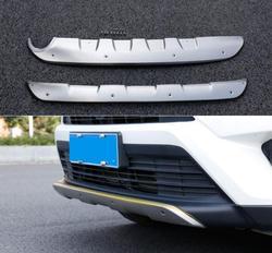 Listwa ochronna zderzaka samochodowego do Toyota RAV4 2016.2017.2018 osłonka na zderzak wysokiej jakości stal nierdzewna przód + tył akcesoria samochodowe w Chromowane wykończenia od Samochody i motocykle na