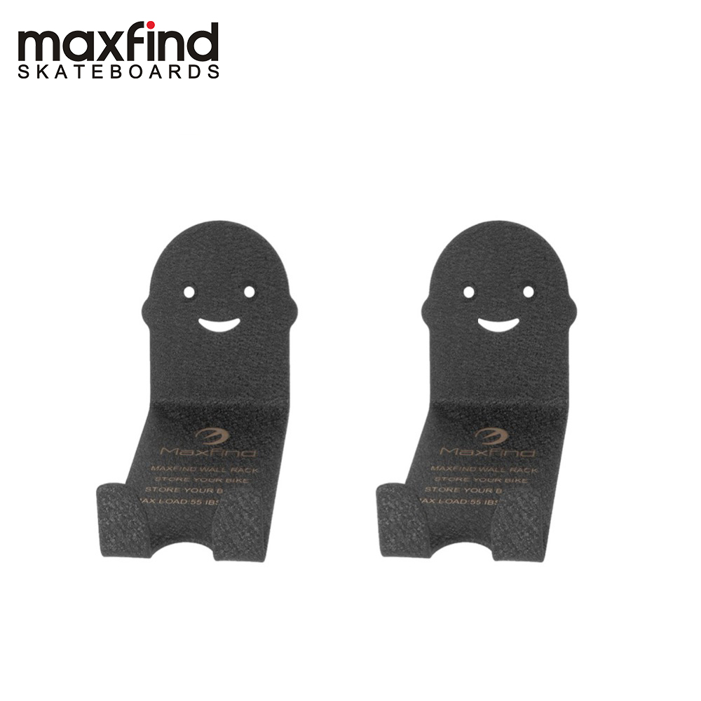 Maxfind Smile Design Bicycle Wall Hanger Storage Wall Metal Holder (2 In 1)-ST37 High-carbon Steel