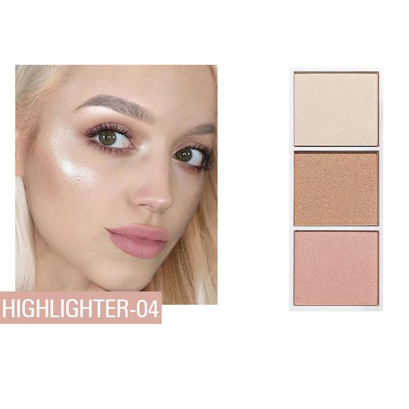 4 colors Highlighter Facial Bronzers Palette Makeup Glow Kit Face Contour Shimmer Powder Body Base Illuminator 2