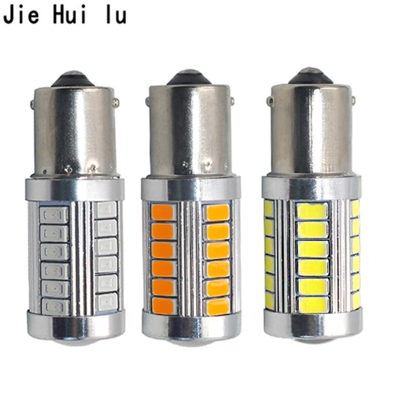 цена на 1Pcs 1156 P21W BA15S 33 SMD 5630 5730 LED Car Backup Reserve Light Motor Brake Bulb Daytime Running Light White Red Orange Amber