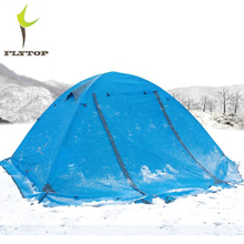FLYTOP Beach Tourist 2 Person Tent Waterproof 210T Polyester Double-Layer 4 Season Outdoor Hiking 3 Person Camping Tents Winter  недорого