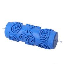LHLL-Валиком с декоративные мотивы для Машины Конструкции цветы/синий 15 см