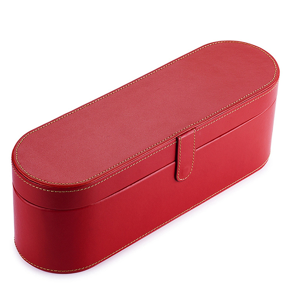 Storage Bag Moistureproof PU leather&internal flannel hard Box Shockproof travel Case Cover for Dyson Hair Dryer orgnization
