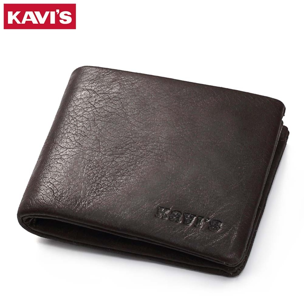 KAVIS Genuine Leather Wallet Men Small Walet Coin Purse Portomonee Mini Slim PORTFOLIO Male Rfid Fashion Perse Pocket Vallet Bag