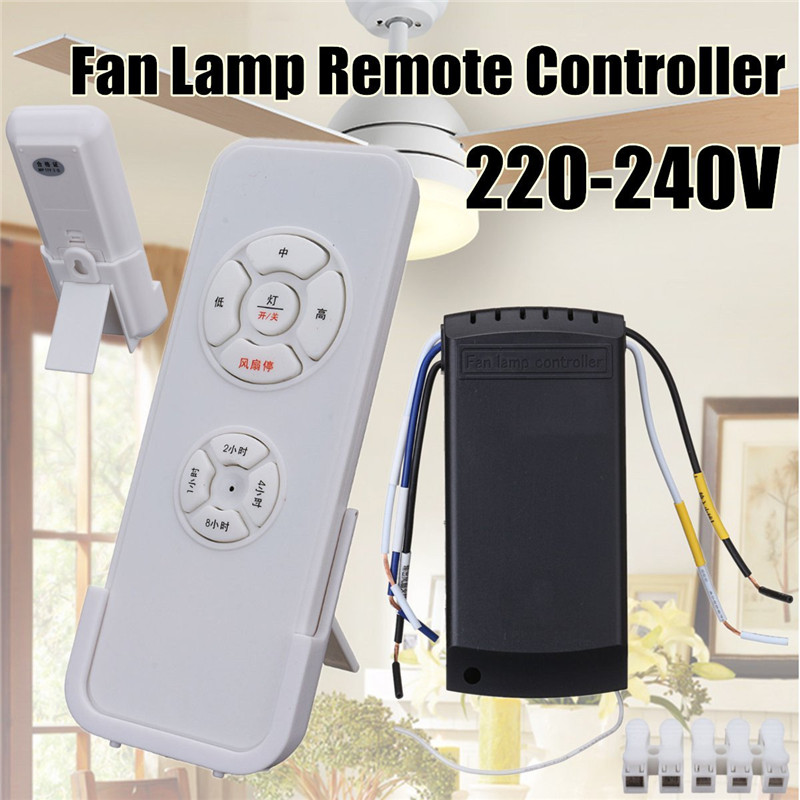 Universal Ceiling Fan Light Lamp Remote Switch Speed  Controller Control Kit 660v ui 10a ith 8 terminals rotary cam universal changeover combination switch