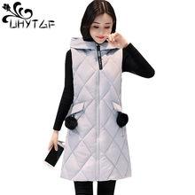 UHYTGF nuevos chalecos para mujeres otoño talla grande abajo algodón cálido  abrigo largo sin mangas chaleco chaqueta de mujer co. 5a2830c30912