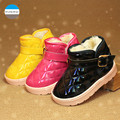 2016 winter new style kids shoes boy and girl fashion keep warm snow boots children waterproof boots for 2 to 7 years old