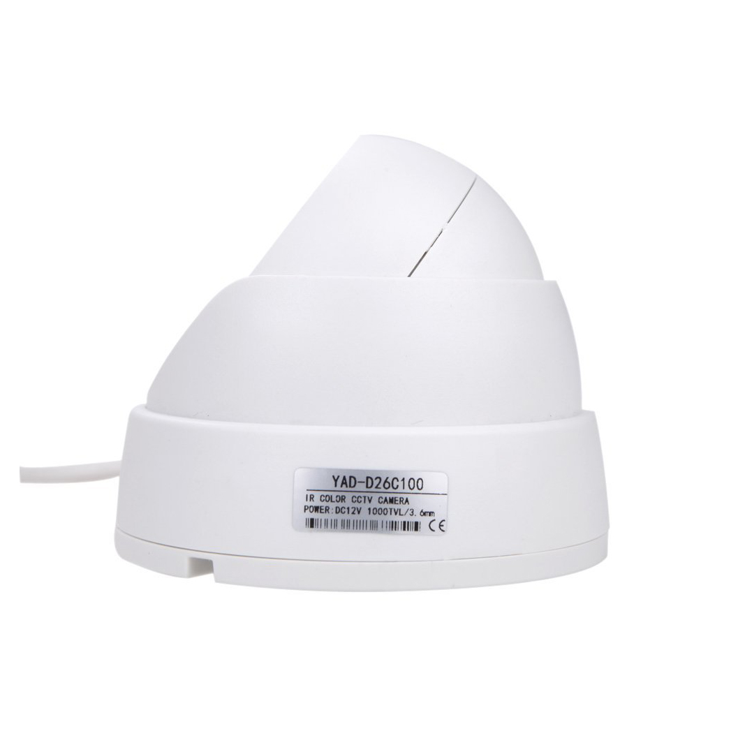 Wholesale 1/3 CCD 1000TVL 24 LED IR Cut Security Indoor Dome CCTV Camera 3.6mm PAL 2 packs black surveillance camera pal 1 3 cmos 700tvl 24 led ir cut 3 6mm security indoor dome cctv camera
