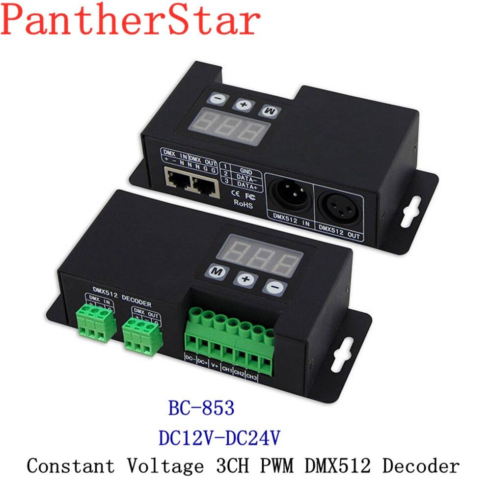 BC-853-CC/BC-853; contrôleur principal de dmx de lumière de 3CH LED rvb; LED 350mA 700mA LED conducteur de décodeur de CC/CV PWM DMX512 pour la lumière de bande de LED